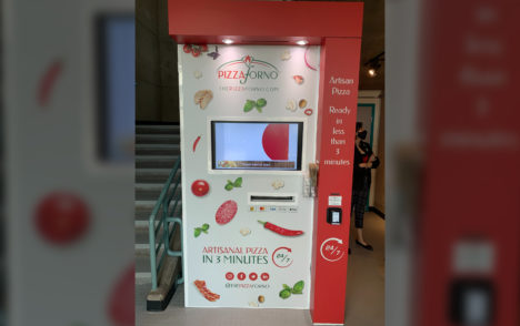 'It's always sold out': Island's first pizza vending machine opens on college campus
